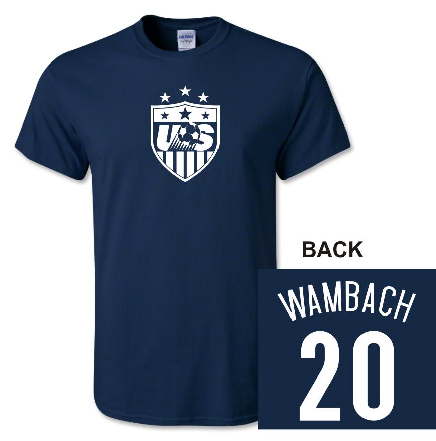 quality design 62a96 be259 US Women's Soccer Wambach 20 Tshirt