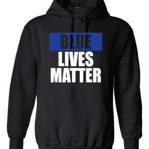 Blue Lives Matter - Black, Hoodie