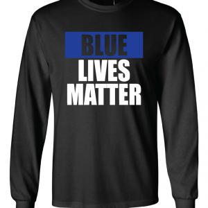 Blue Lives Matter - Black, Long Sleeved