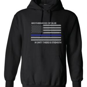 Brotherhood of Blue - Black with grey Hoodie