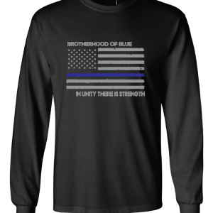 Brotherhood of Blue - Black with grey Long Sleeved