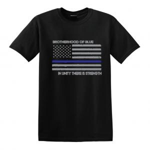 Brotherhood of Blue - Black with grey T-Shirt