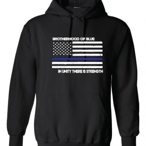 Brotherhood of Blue - Black with white, Hoodie