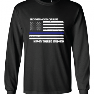 Brotherhood of Blue - Black with white, Long Sleeved