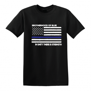 Brotherhood of Blue - Black with white, T-Shirt