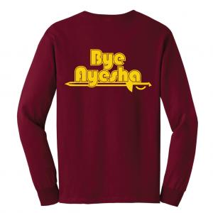 Cleveland Cavaliers bye ayesha maroon long sleeved shirt
