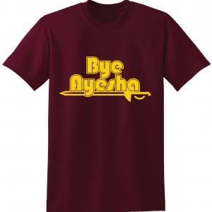 Cleveland Cavaliers bye ayesha maroon t-shirt