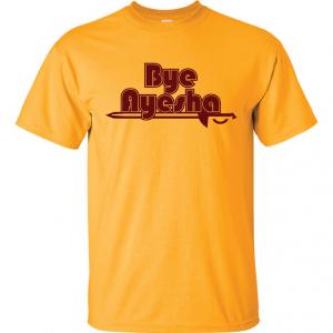 Cleveland Cavaliers bye ayesha yellow t-shirt