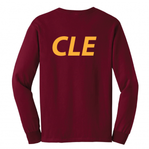 CLE - Maroon, Long Sleeved