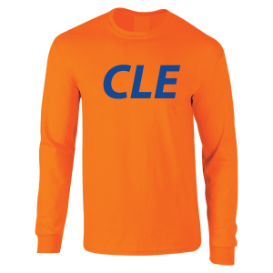 CLE - Orange (Royal letters), Long Sleeved