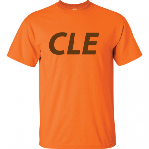 CLE - Orange (Brown letters), T-Shirt