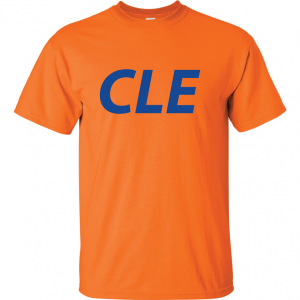 CLE - Orange (with Royal letters), T-Shirt