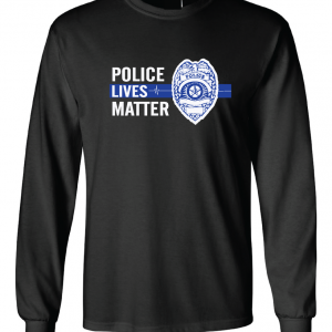 Police Lives Matter - Black, Long Sleeved
