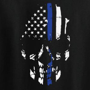 Police Lives Matter Skull - T-Shirt, Long Sleeved, Hoodie