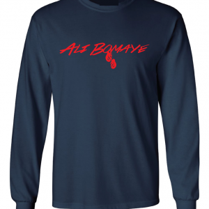 Ali Bomaye - Muhammad Ali, Navy, :Long Sleeved