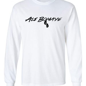 Ali Bomaye - Muhammad Ali, White, Long Sleeved