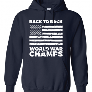 Back to Back World War Champs, Navy, Hoodie
