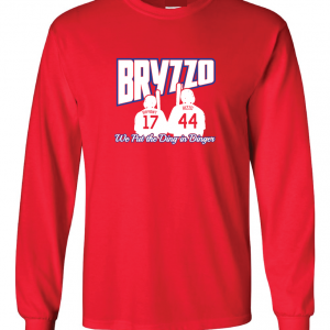 Bryzzo - Chicago Cubs, Red, Long Sleeved