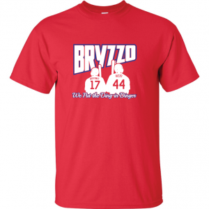 Bryzzo - Chicago Cubs, Red, T-Shirt
