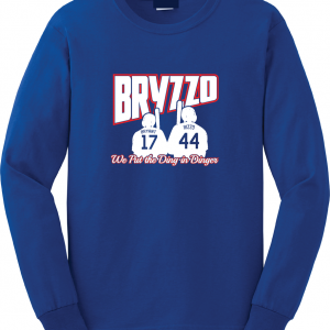 Bryzzo - Chicago Cubs, Royal Blue, Long Sleeved