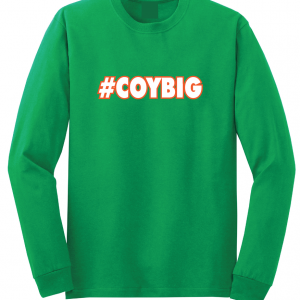 #COYBIG - Ireland Soccer (Come On You Boys In Green), Green, Long Sleeved