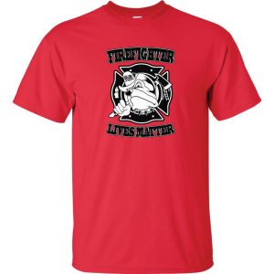 Firefighter Lives Matter, Red, Hoodie
