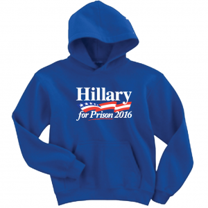 Hillary for President 2016, Blue, Hoodie