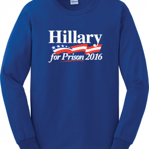 Hillary for President 2016, Blue, Long Sleeved