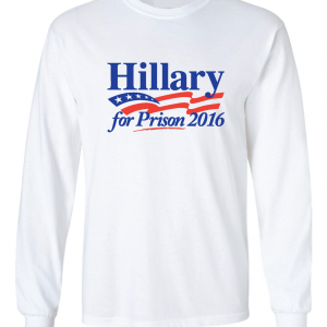 Hillary for President 2016, White, Long Sleeved