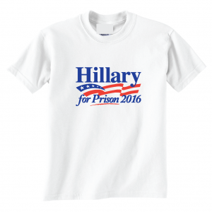 Hillary for President 2016, White, T-Shirt