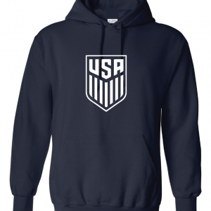 USA Men's Soccer Crest, Navy-White, Hoodie