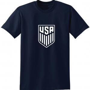 USA Men's Soccer Crest, Navy-White, T-Shirt