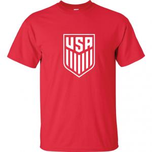 USA Men's Soccer Crest, Red-White, T-Shirt