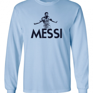 Messi - Argentina Soccer, Light Blue, Long Sleeved