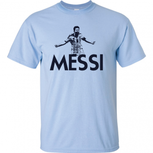 Messi - Argentina Soccer, Light Blue, T-Shirt