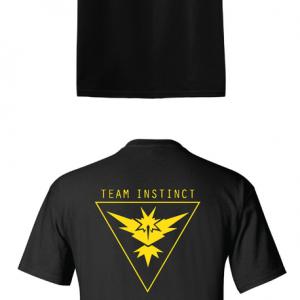8a3125ea Pokemon Go Team Instinct, Black, T-Shirt