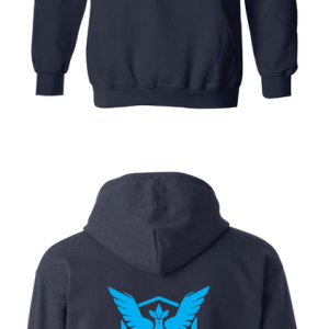 Pokemon Go Team Mystic, Black, Hoodie