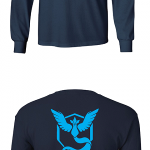 Pokemon Go Team Mystic, Black, Long Sleeved
