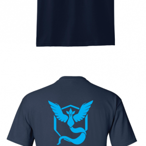 Pokemon Go Team Mystic, Black, T-Shirt