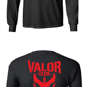Pokemon Go Team Valor, Black, Long Sleeved