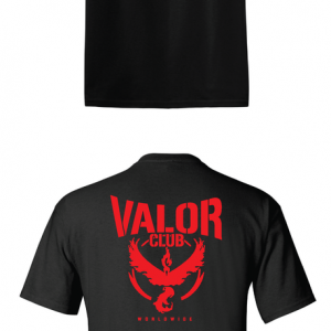 Pokemon Go Team Valor, Black, T-Shirt