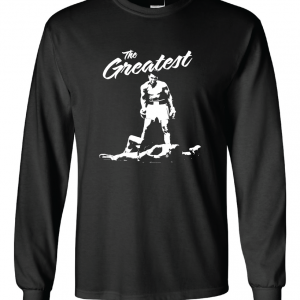 The Greatest - Muhammad Ali, Black, Long Sleeved