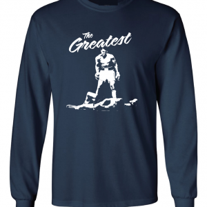The Greatest - Muhammad Ali, Navy, Long Sleeved
