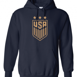 USA Women's Soccer Crest, Navy/Gold, Hoodie