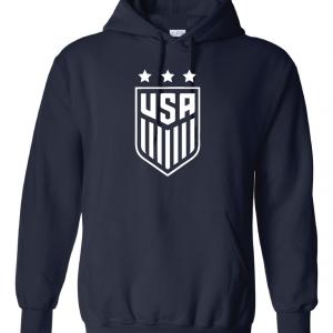 USA Women's Soccer Crest, Navy/White, Hoodie