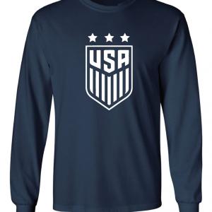 USA Women's Soccer Crest, Navy/White, Long Sleeved