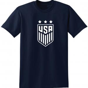 USA Women's Soccer Crest, Navy/White, T-Shirt