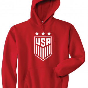 USA Women's Soccer Crest, Red/White, Hoodie