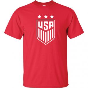 USA Women's Soccer Crest, Red/White, T-Shirt