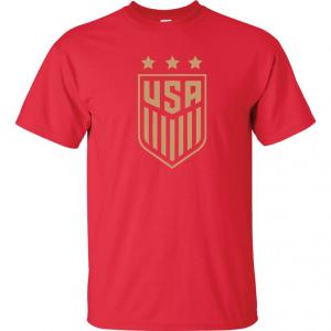 USA Women's Soccer Crest, Red/Gold, T-Shirt